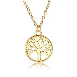 3/$20 Gold Tree Of Life Necklace